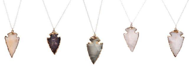 Stone Arrowhead Necklaces