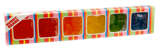 6 Flavour Gummy Bear Box