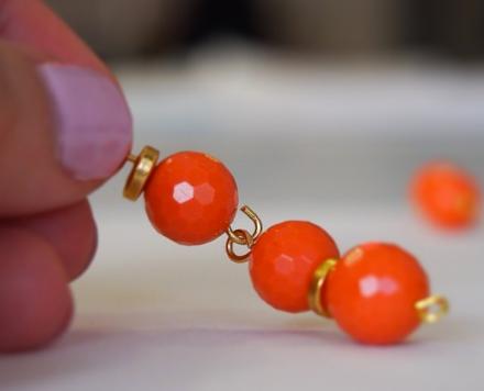 Designher Kit Orange Beaded Necklace