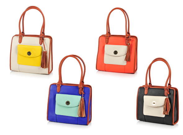 Isaac Mizrahi Bridgehampton Colourblock Satchel