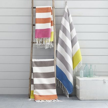 Color Block Stripe Picnic Throws