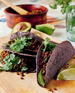 Lentil, Kale & Quinoa Tacos
