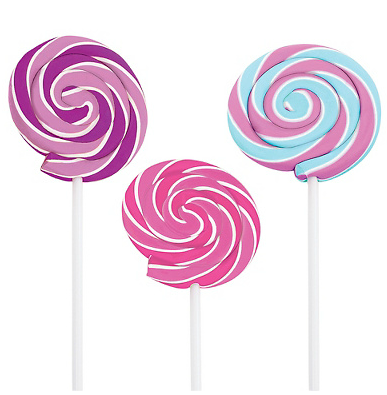 Lollipop Erasers