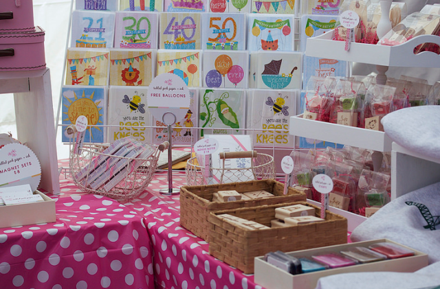 Tickled Pink booth