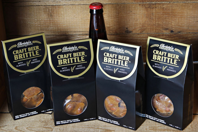 Craft Beer Brittle with Almonds