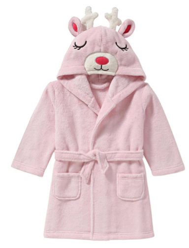 Joe Fresh Toddler Hooded Animal Bath Robe