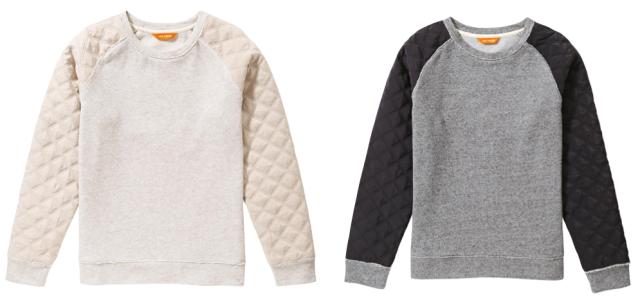 Quilted Sleeve Sweatshirt