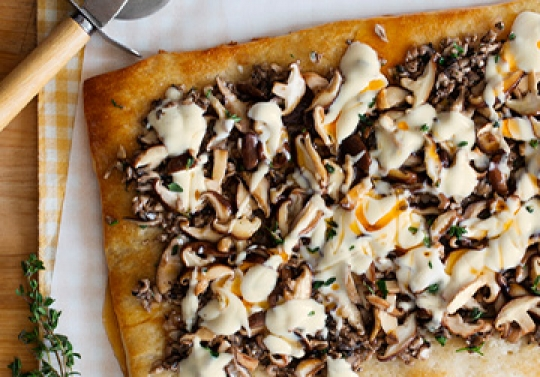 White Wild Mushroom Pizza