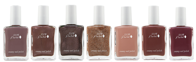 100% Pure Ombre Nail Polishes