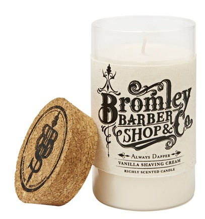 Bromley Barber Shop Vanilla Scented Shaving Cream Candle