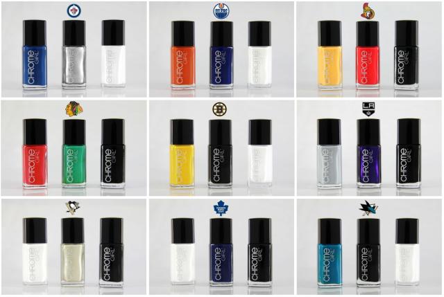 Chrome Girl NHL Nail Polishes