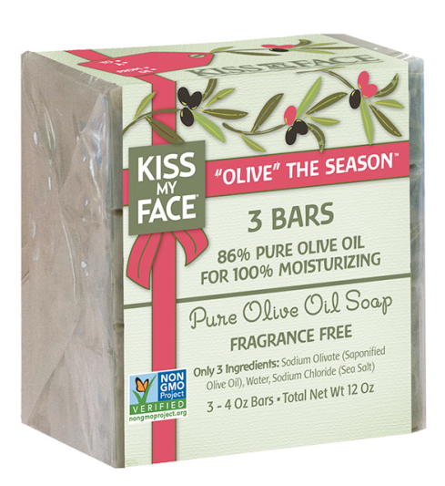 Kiss My Face Olive The Season Soap Gift Set