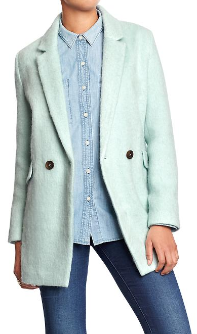 Old Navy Wool Blend Long Blazer
