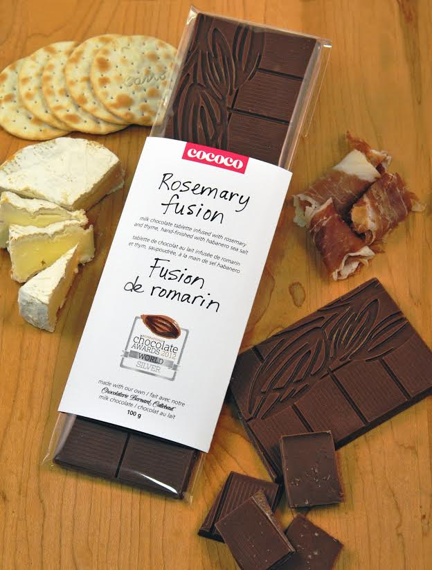 rosemary fusion bar chocolaterie bernard callebaut