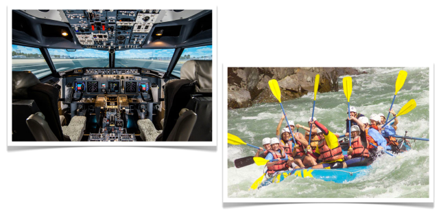 Breakaway Experiences Flight Simulator and Rafting