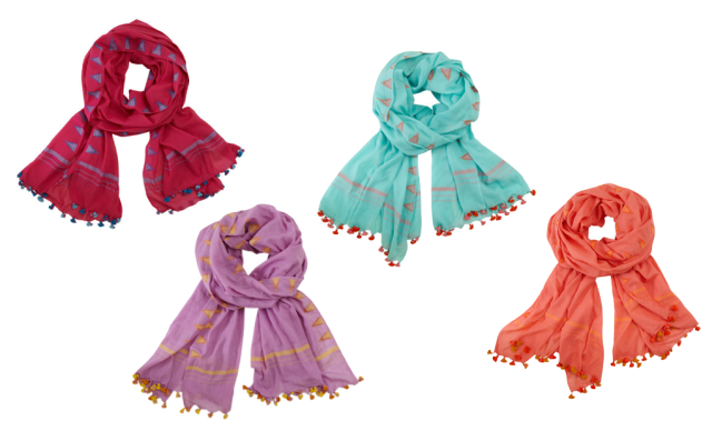 Far & Wide Collective Jamdani Scarves