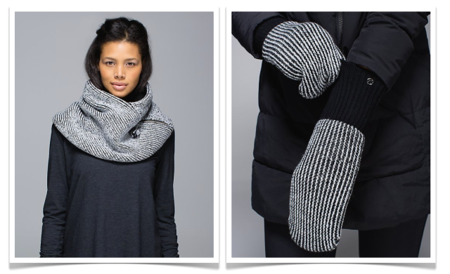 lululemon mitts and neck warmer