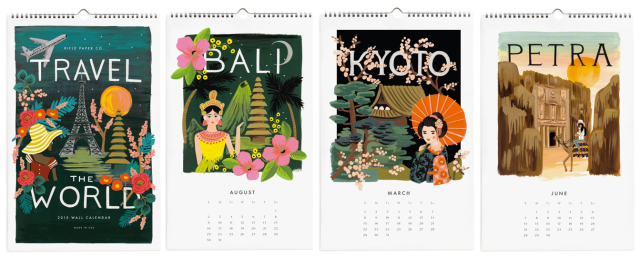 Rifle Paper Co Travel the World Calendar