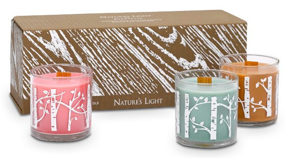 Nature's Light Scented Mini Candle Trio