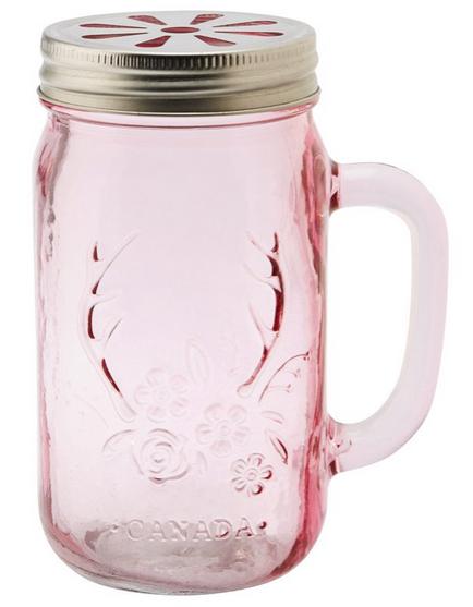 Mason Jar Mug Pink