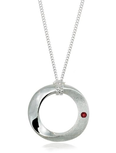 Pamela Lauz Infinity Pendant Single Gem