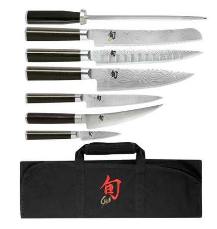 Shun Classic 8-Piece Student Knife Set