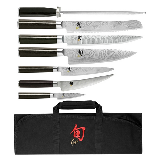 Shun Classic 8-Piece Student Knife Set