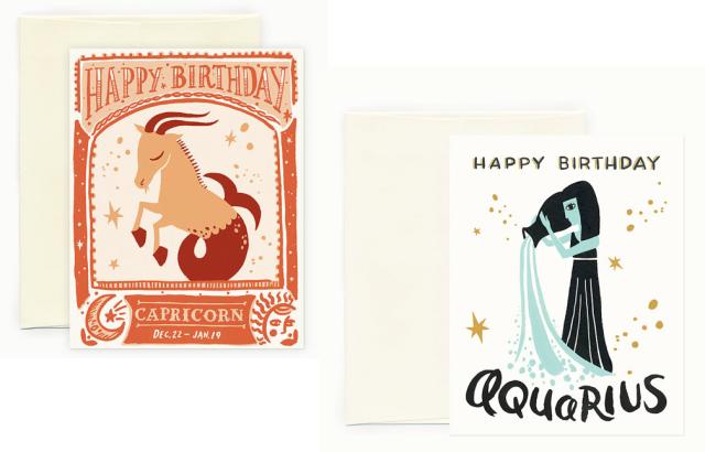 Happy Birthday Zodiac Cards