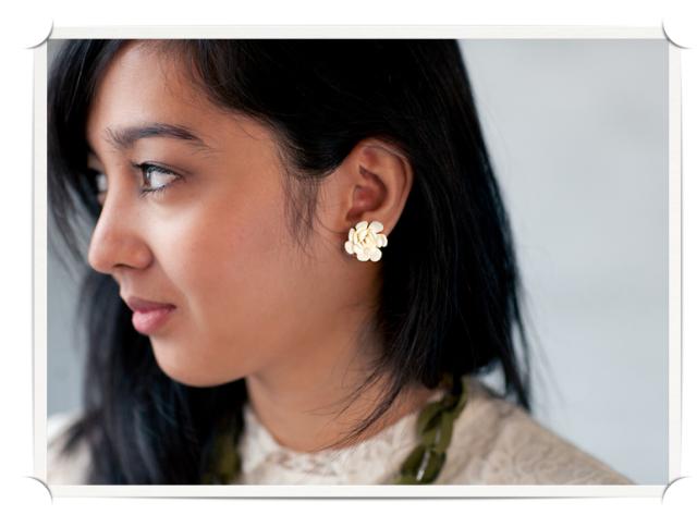 Duo Duet Medium Floral Earrings