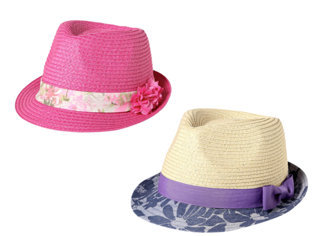 Joe Fresh Floral Fedoras