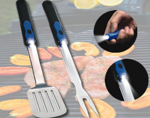BBQ Light Up Tools with Flashlight Set