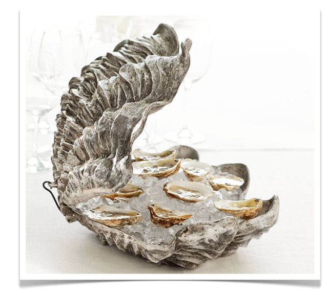 Clam Shell Serve Bowl