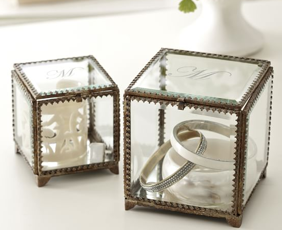 Pottery Barn Elaine Glass Display Box