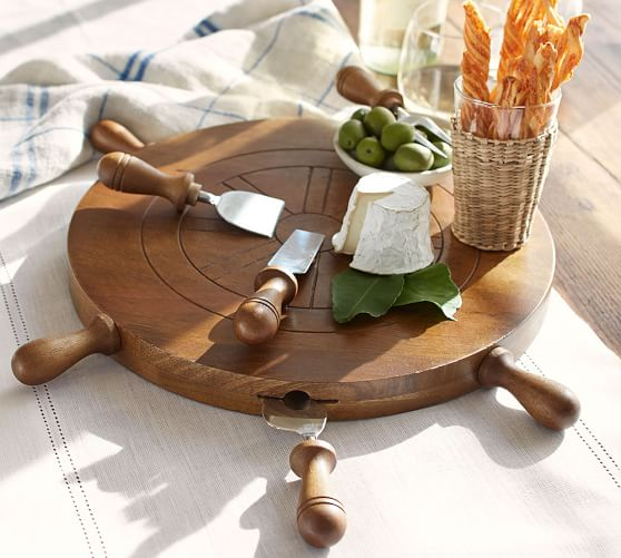 Ship's Wheel Cheese Board