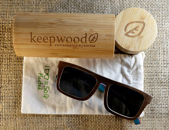 Keepwood Skateboard Wood Sunglasses