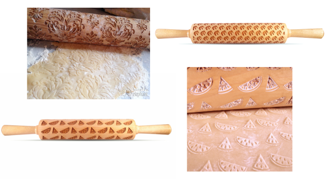 Laser Cut Humble Elephant Rolling Pins