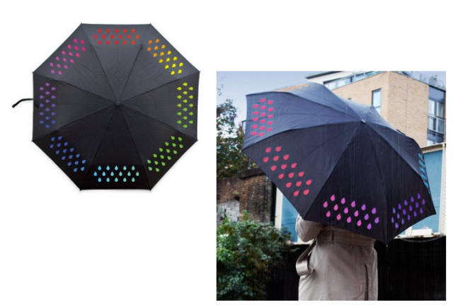 Rain Activated Color Changing Umbrella Suck UK
