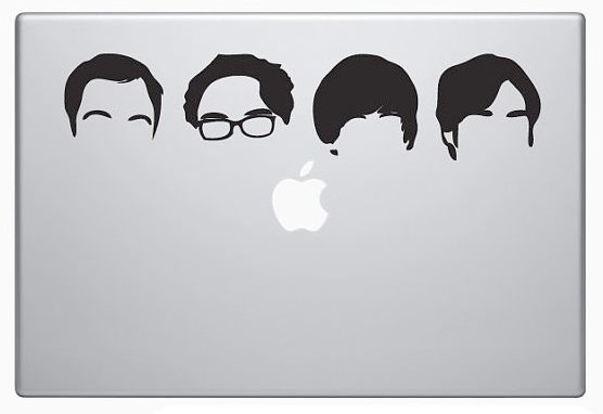 Big Bang Theory Laptop Decal