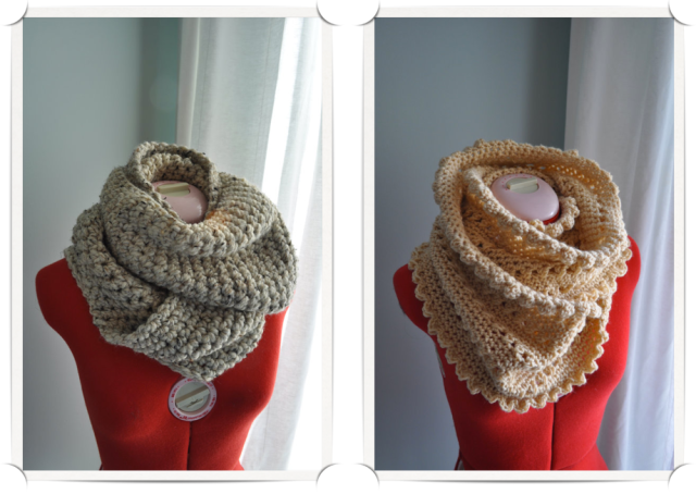 Hand Knit Wrap Scarves