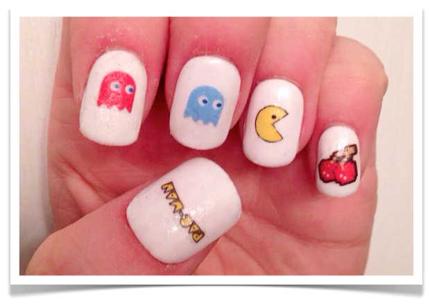 Pac-Man Nail Decals
