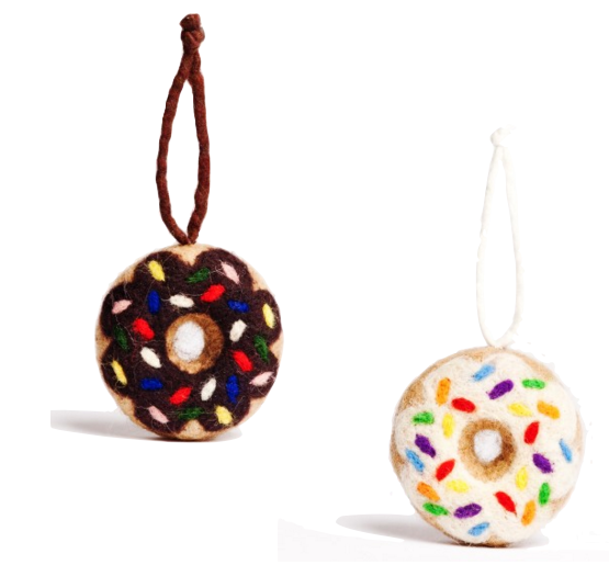 Felt Donut Ornaments