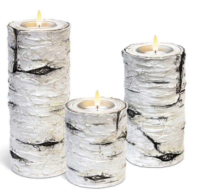 Clair de Lune Birch Tealight Trio