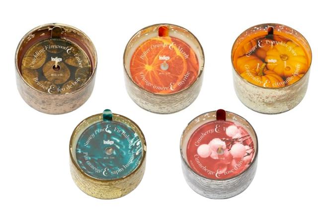 Indigo Mini Mercury Candles