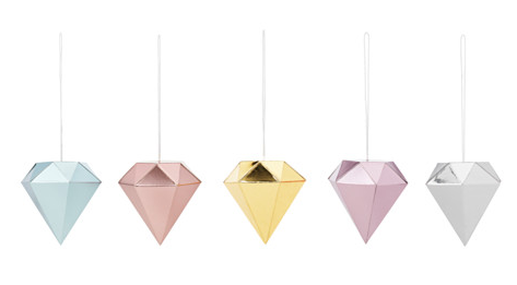 Vinter 2015 Diamond Shaped Ornaments