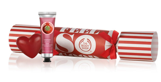 the body shop strawberry festive cracker