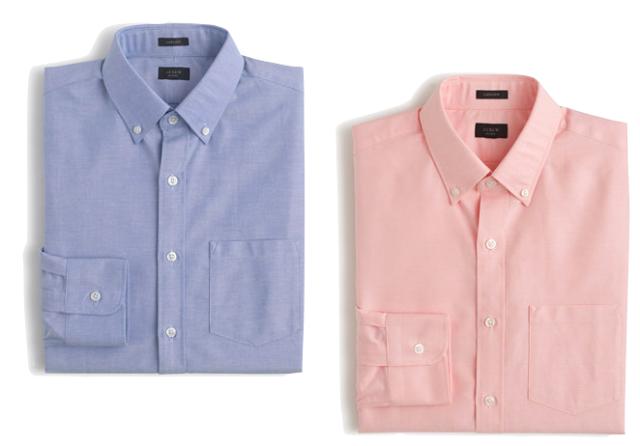 J Crew Men's Ludlow Oxford Cotton Shirt