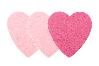 Heart-to-Heart Makeup Sponges