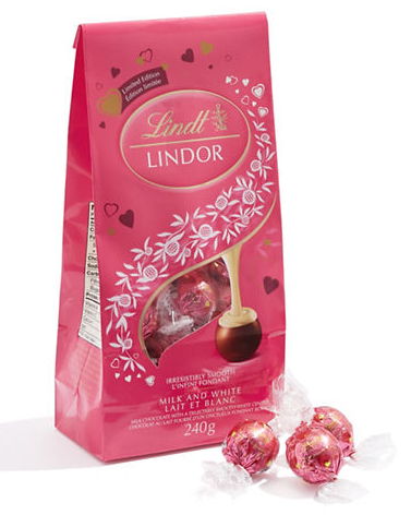 Lindt Valentine's Milk and White Chocolates