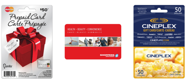 Shoppers Drug Mart Gift Cards