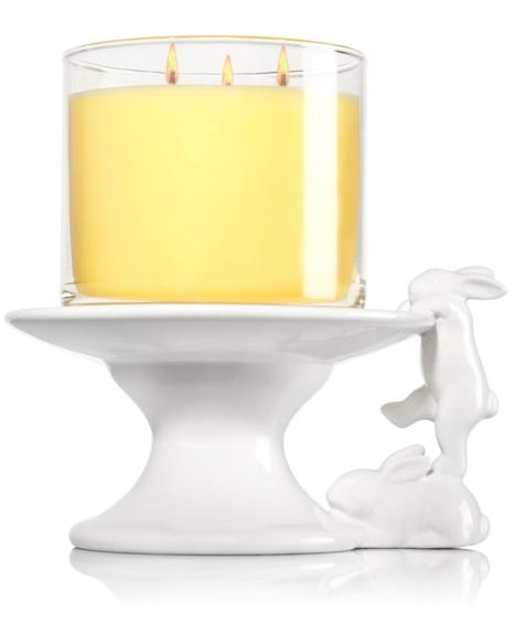 Ceramic Bunny Pedestal